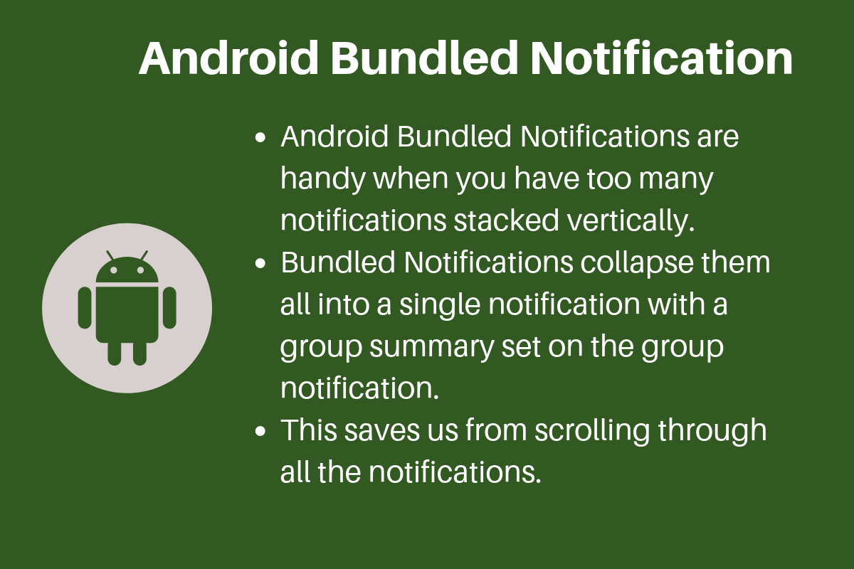 Android Bundled Notifications