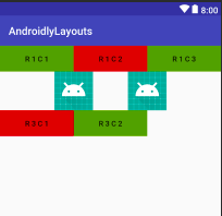 android table layout stretched