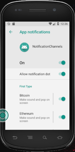 android notification channel settings