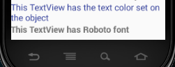 android textview custom font