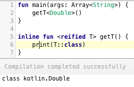 kotlin inline function reified parameters