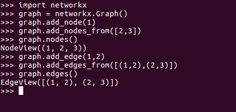 networkx graph add edges