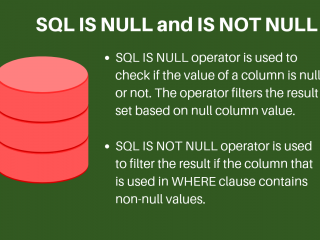 Sql Is Null Is Not Null