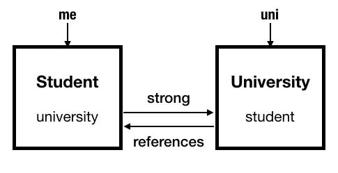 swift memory management, swift Automatic Reference Counting strong references