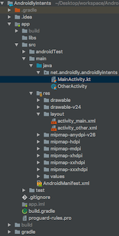 android-intent-project-structure