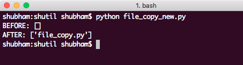python shutil Copy file to new directory