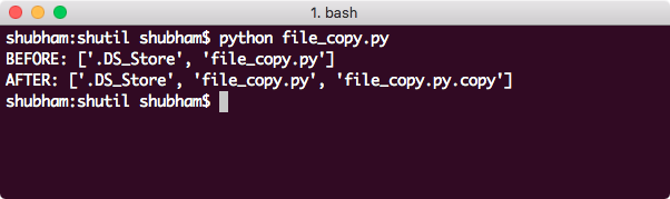 Python shutil Copy file