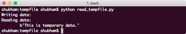 Reading a Tempfile in python