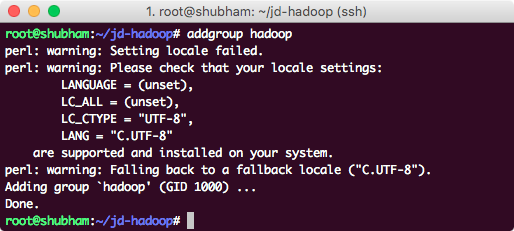 adding hadoop user on ubuntu
