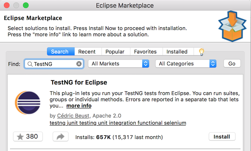 eclipse install testng plugin