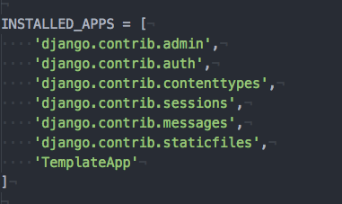 django template settings