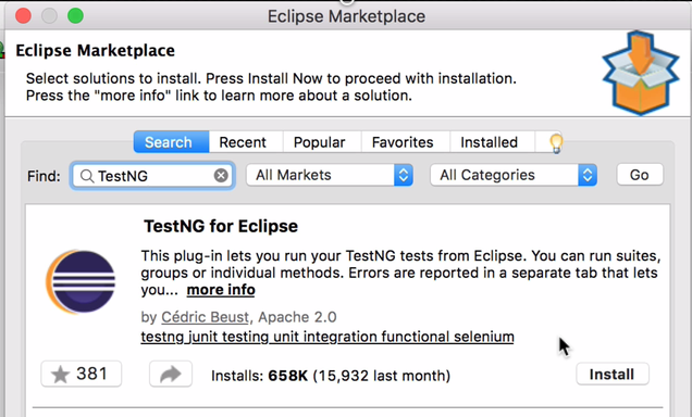 eclipse marketplace testng eclipse plugin