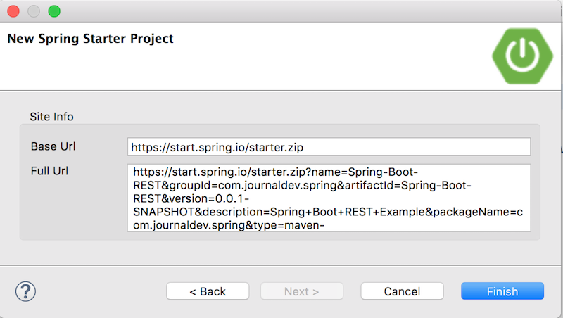 spring initializr project url