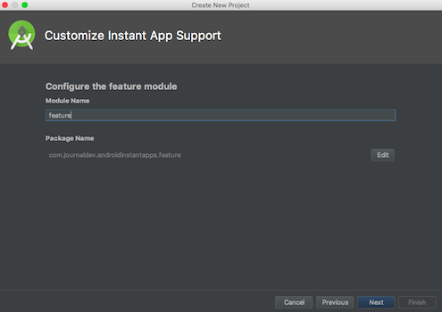 android instant apps android studio project