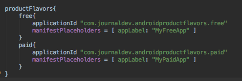android product flavors manifest placeholders