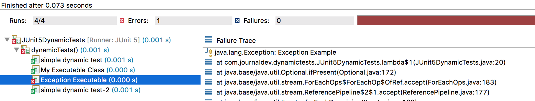 JUnit 5 Dynamic Tests - @TestFactory, DynamicTest - JournalDev