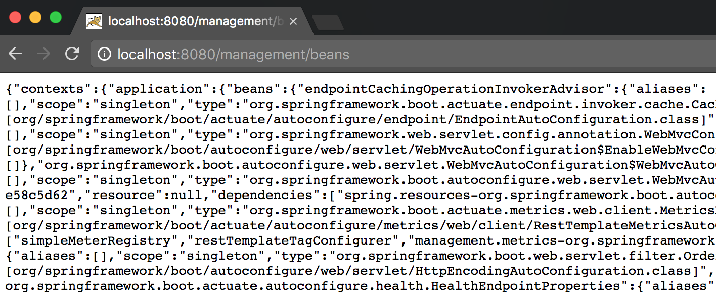 spring boot actuator endpoint beans