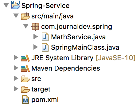 spring service annotation example