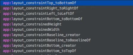android constraint layout xml attributes