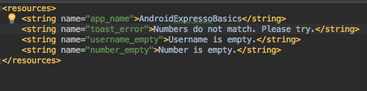 android espresso test project structure