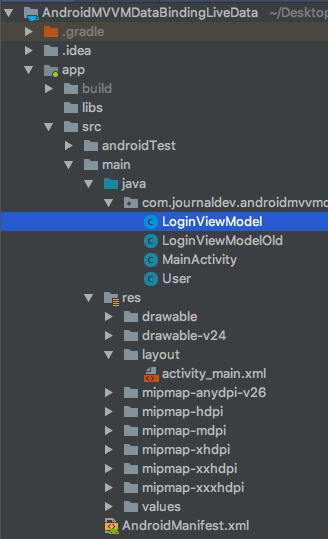 android-mvvm-livedata-databinding-project