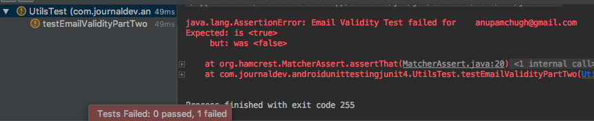 android junit output 2
