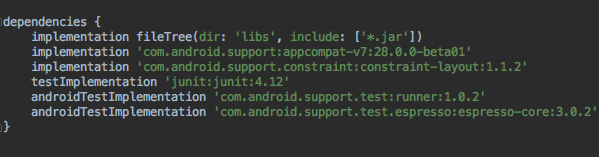how to run unit test nativescript on android device