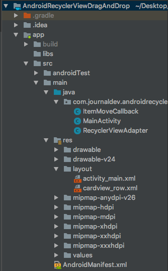 android drag drop recyclerview