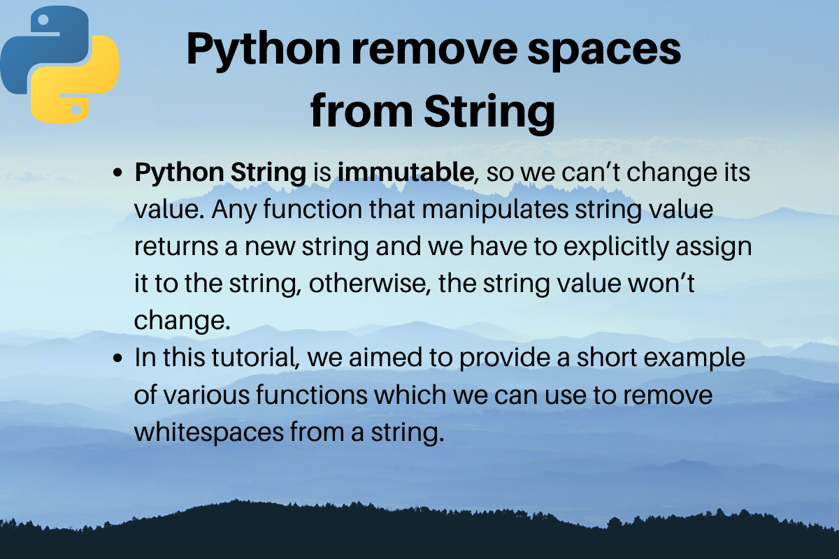 Python Remove Spaces From String