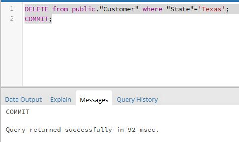 SQL transaction commit