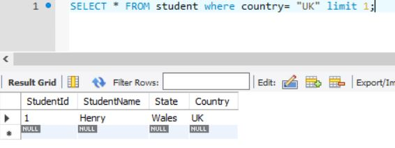 SQL Limit with Where clause