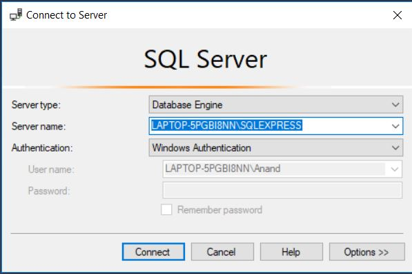 SSMS Authentication