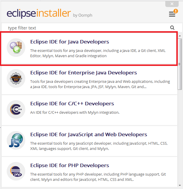 Eclipse IDE Java