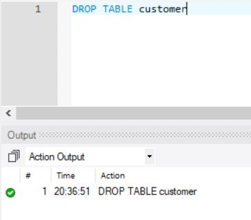 SQL DROP Table On MySQL