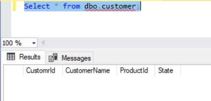 SQLServer SELECT Table