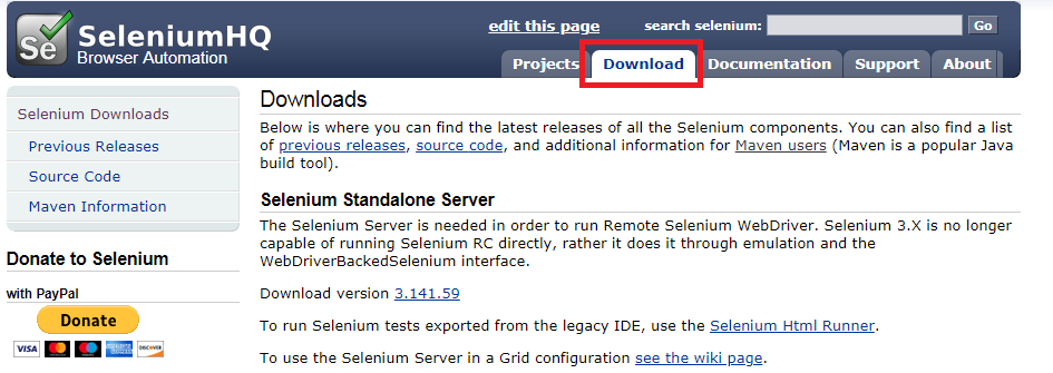 Selenium Download