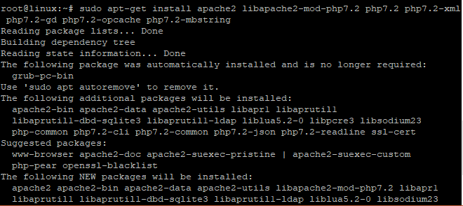 Install Apache and PHP