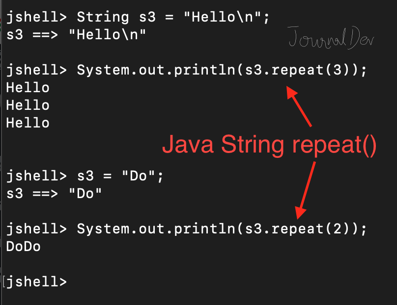 Java String repeat()