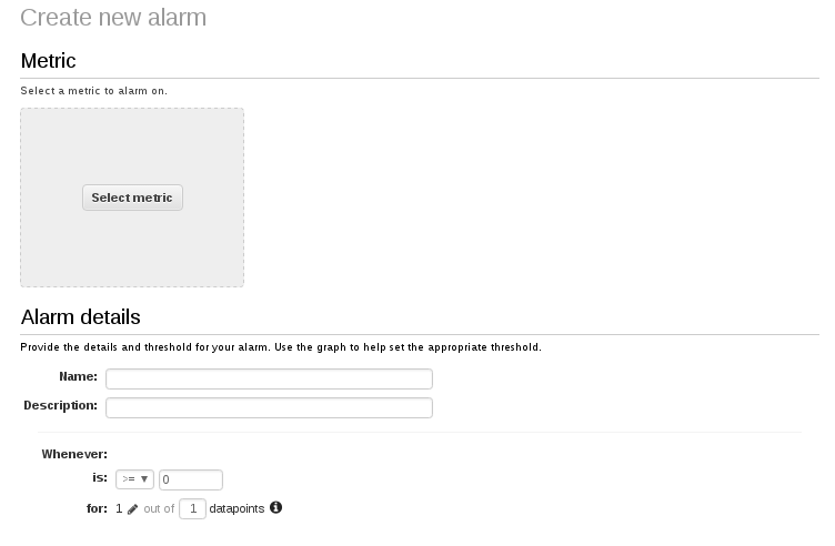 Create New Alarm