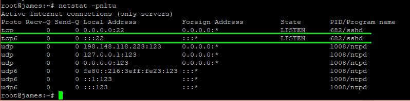 Netstat Command To Check Is Ssh Is Running