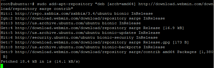 Enable Webmin Repository