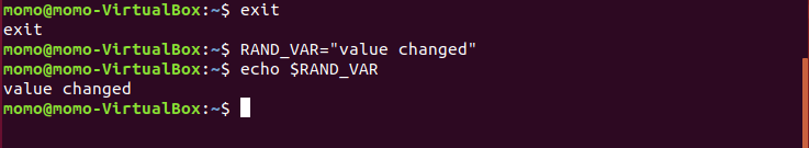 changing env var value