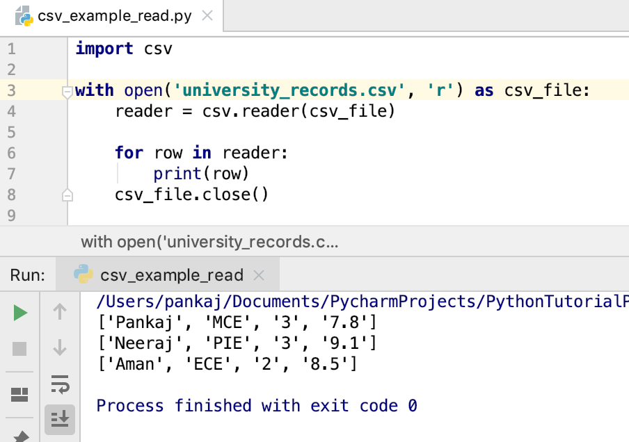 How to Parse CSV Files in Python - JournalDev