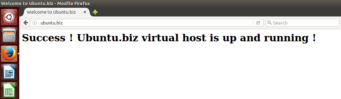 Web Page Of Virtual Host 1