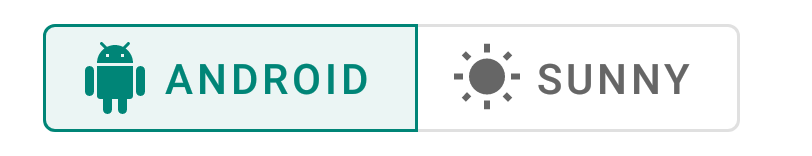 Android Material Toggle Icon Text