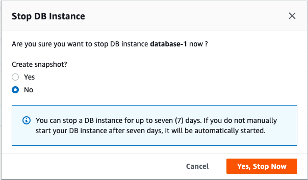Stop Database