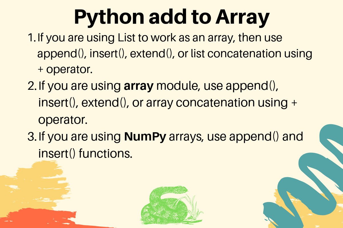 Python Add To Array