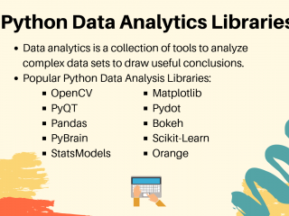 Python Data Analytics Libraries