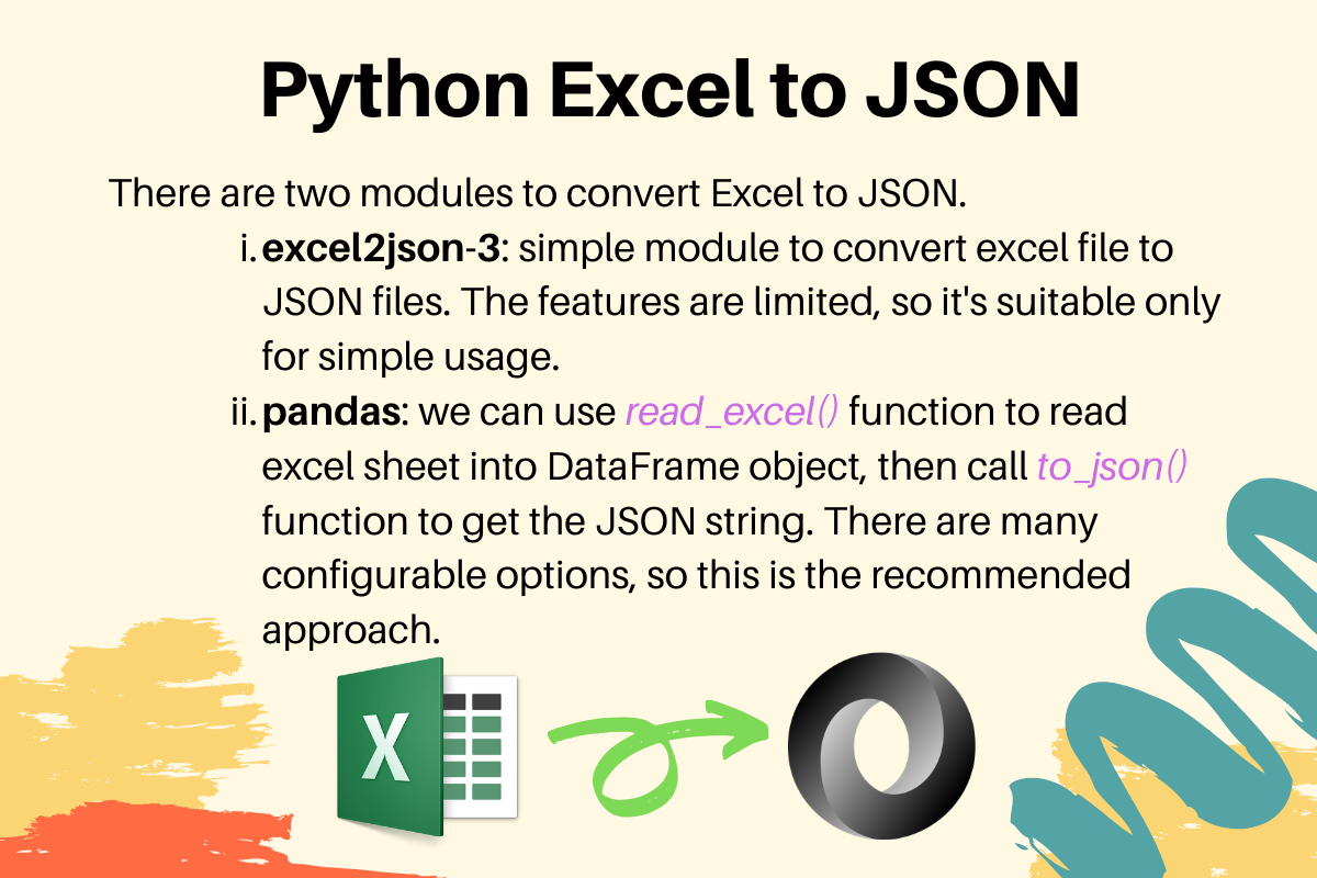 Python Excel To JSON