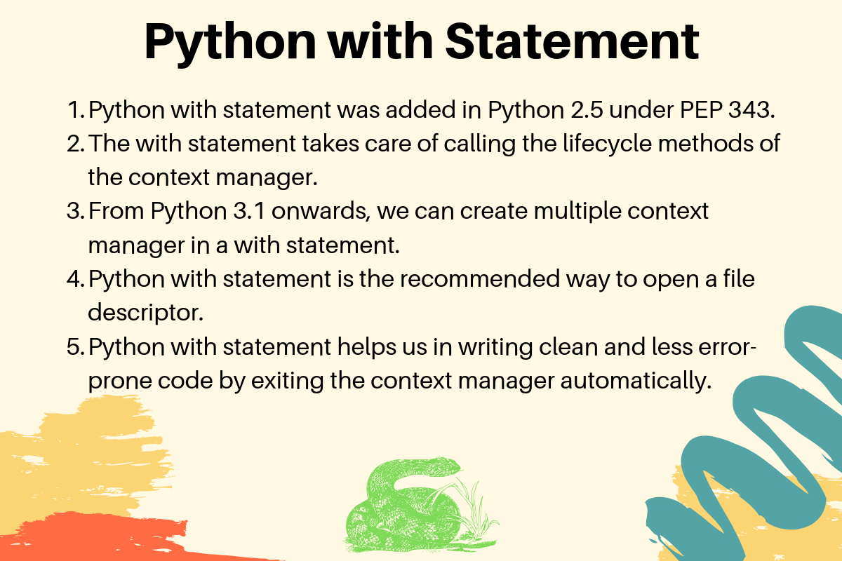 Python With Statement